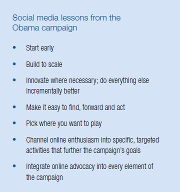 Obama Campaign Social Media Lessons