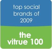 Top 100 Social Marketing Brands in 2009