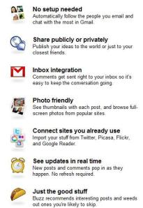 Google Buzz Top 5 Features