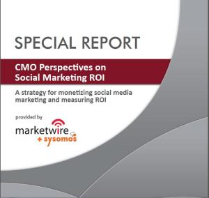 CMO Perspective on Social Marketing ROI